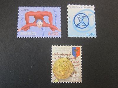 【雲品】愛沙尼亞Estonia 2002 Sc 441-3 sets(3) MNH 庫號#77007