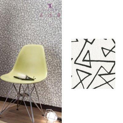 【夏法羅 窗藝】日本進口 時尚前衛 黑色線條 壁紙 BB_080149