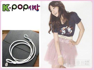 K-POP Market。韓國進口正品 少女時代 太妍 泰妍 同款簡約多層次纏繞皮革厚質細手環復古勾釦手鍊