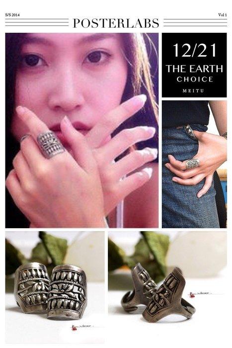 銀囍古董銀飾-老銀手鐲 純銀手鍊 鏤空窗花蓋戒 成雙成對老銀戒指 釋出藏品