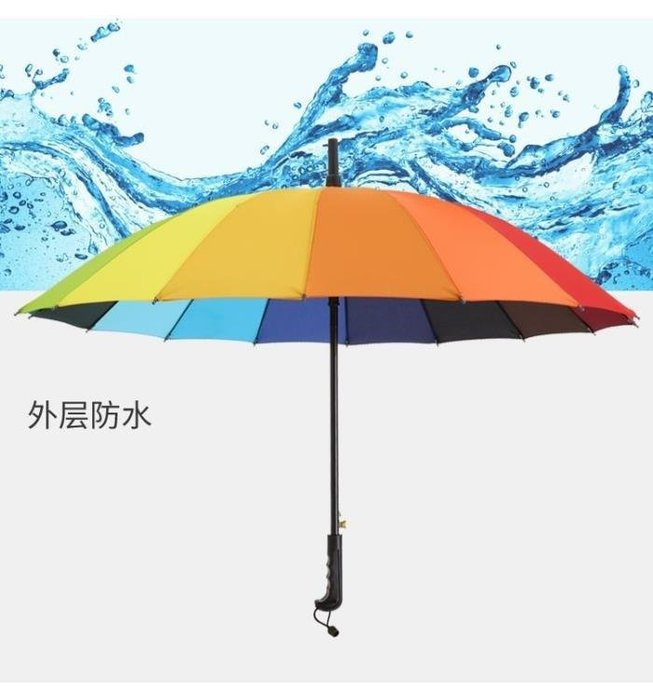 YEAHSHOP 直桿彩虹雨傘長柄男女商務純色兩Y185