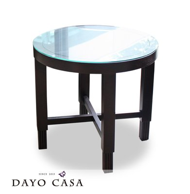 實木小茶几 床邊几 圓形55cm/ 訂製家具設計款/ 居家 實品屋 樣品屋 門廳公設_DAYO CASA 新北市