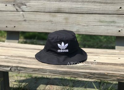 【ARON】 Adidas Originals Bucket Hat 三葉草 漁夫帽 BK7345 復古 愛迪達 刺繡