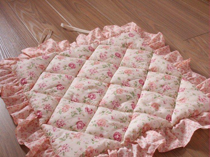 粉紅玫瑰精品屋~韓式田園純棉布藝加厚坐墊椅墊~
