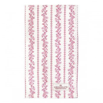 GreenGate Tea Towel Audrey Raspberry