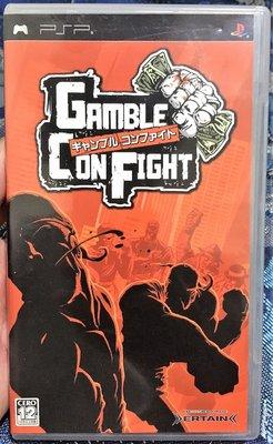 幸運小兔 PSP遊戲 PSP 非法地帶 GAMBLE CON FIGHT 日版遊戲 D5