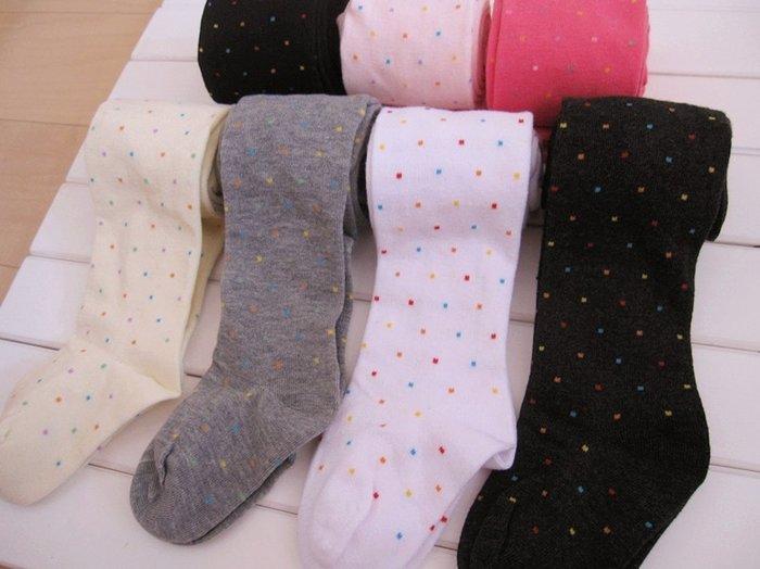 ☆草莓花園☆新款點點兒童褲襪  兒童打底褲 兒童襪