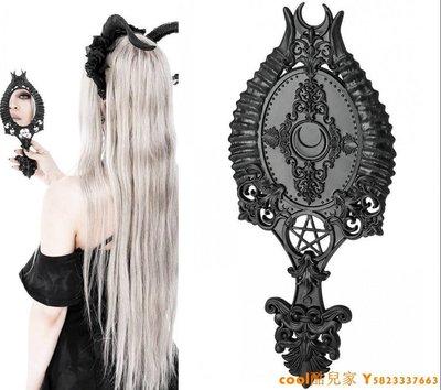 cool酷兒家 東歐RESTYLE暗黑哥特Horns吸血鬼女巫五芒星維多利亞手鏡歐式復古