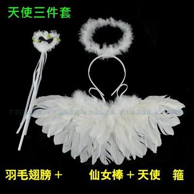 羽毛 天使翅膀(大號-上飄) 三件組 ...