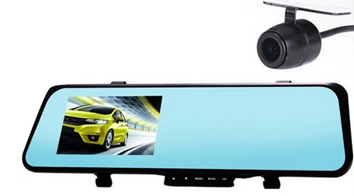 新款行車記錄儀565雙鏡頭1080P高清廣角後視鏡支持OEM363