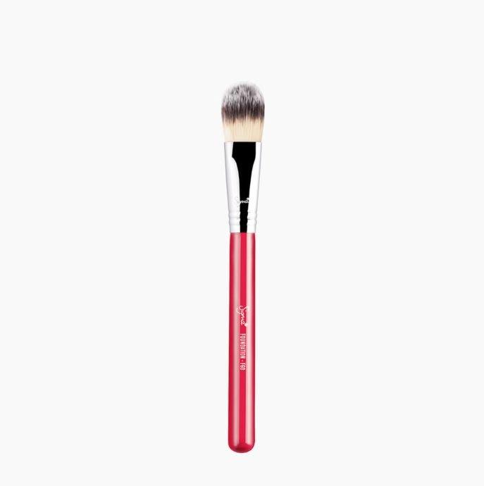 Sigma F60 FOUNDATION BRUSH 粉底刷 化妝刷(珊瑚紅)【愛來客】美國Sigma官方授權經銷商