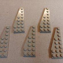 全新 Lego 散件 杏色 Left Plate 3X8 W/Angle (6028022) 5pcs