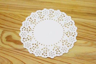花邊紙_白色圓形40張 5.5吋_MH5.5-40◎花邊紙.圓形.5.5吋.花邊.蕾絲.蛋糕.底襯.紙襯.包裝