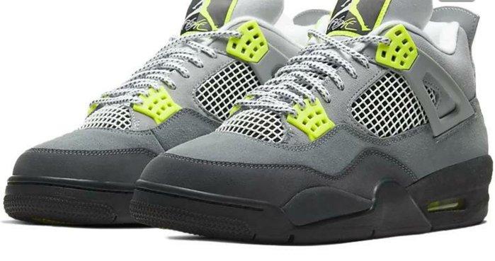 現貨- Air Jordan 4 Neon AJ4 灰绿 麂皮 篮球鞋 CT5342-007