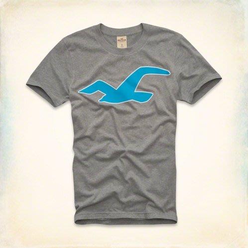 本人美國帶回!全新正品 Hollister (HCO)~灰色 海島 衝浪意象 經典 LOGO 現貨 TSHIRT