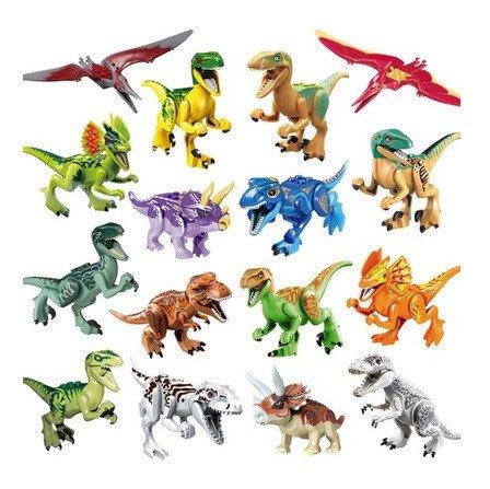 積木恐龍玩具 侏羅紀世界 恐龍暴龍迅猛龍霸王龍翼龍暴虐龍組合_☆找好物FINDGOODS ☆