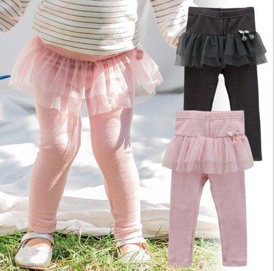 ✽2019早秋新品✽韓國Bebezoo女童櫻桃蕾絲球球拼紗棉質褲裙