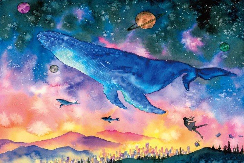 拼圖專賣店 拼圖 1000-007(1000片夜光拼圖 鯨魚插畫)