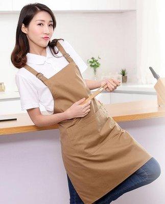 圍裙定制logo韓版時尚家用廚房奶茶店美甲防水成人男女工作服定做第