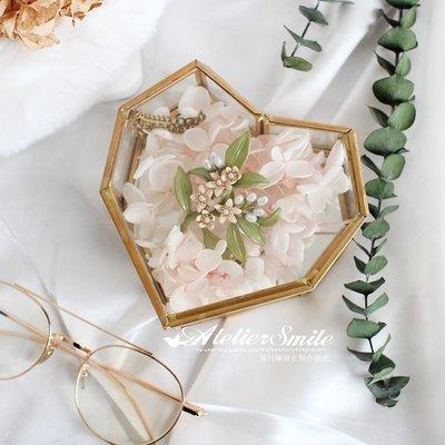 [ Atelier Smile ] 鄉村雜貨 復古歐式 手工銅製心形 玻璃展示首飾盒 收納盒 # 12 (現+預)