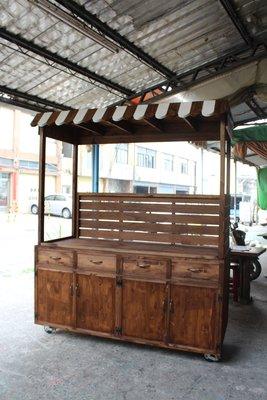 zakka糖果臘腸鄉村雜貨坊    木作類...Bear 展示攤車/陳列櫃(夜市擺攤IKEA活動傢俱HOLA木工木櫃木椅