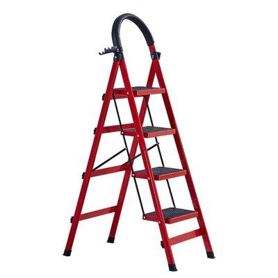 全館折扣 梯子家用摺疊梯加厚多功能人字梯爬梯伸縮樓梯四步五步梯室內扶梯igo