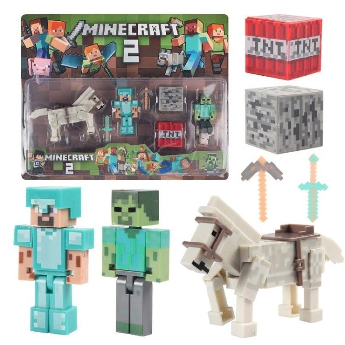 可開發票 我的世界玩具模型拼裝積木人偶公仔兼容樂高積木Minecraft小人仔兒童wy-KLSH