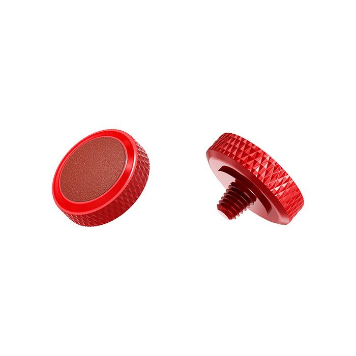 【傑米羅】JJC 機械相機 螺牙式 快門按鈕 增高鈕《純銅製 豪華版》(SRB-R 紅框棕皮) - 帶防脫圈 防鬆脫