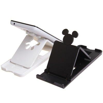 *小容容*日本 迪士尼 米奇造型 12段可調式手機架 手機平板都可用 黑色/白色可選