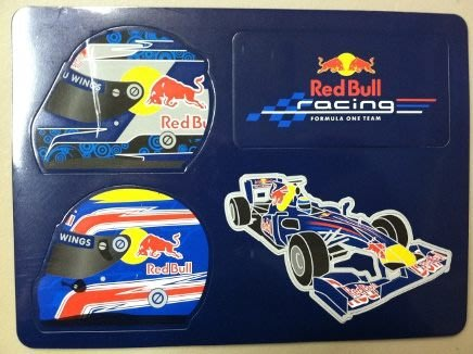 TAIWANSPEED極速台灣賽車時尚館- Red Bull F1紅牛車隊磁鐵組-4個~促銷~