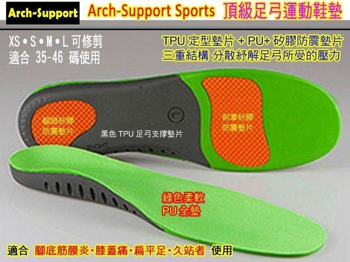 三雙免運◎S/M/L碼Arch-Support足弓機能鞋墊 / 扁平足鞋墊 足底筋膜炎˙吸壓減震 支撐足弓釋放足部壓力