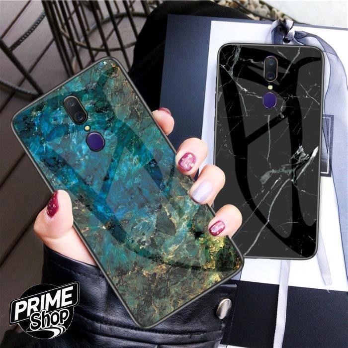 Prime Shop OPPO A9 F11 PRO Reno 十倍變焦鋼化玻璃大理石手機套保護殼軟殼 裝飾配件日韓禮物