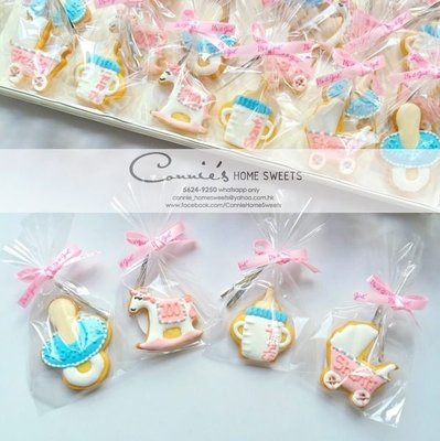 【Connie's Home Sweets】百日宴回禮曲奇/滿月回禮曲奇/生日回禮曲奇/100 Days Cookies/Baby