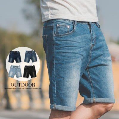柒零年代【N9806J】經典刷色小鐵環素面牛仔短褲(LE-PA01)