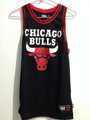 美國職籃NBA 創信 洞洞無背號籃球背心 芝加哥公牛隊 CHICAGO BULLS 黑 XS