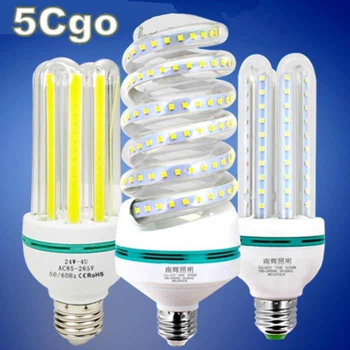 5Cgo【權宇】節能耐用五年LED燈泡360度U型燈管玉米燈e27/B22超透光玻璃管無頻閃3w~30w另有COB 含稅