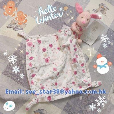 Disney Store 小豬經典款公仔BB睡巾Piglet Classic Plush Blankie for Baby 嬰兒玩具安撫巾 pooh