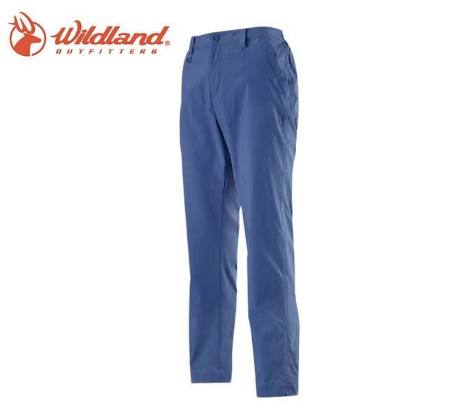 丹大戶外【Wildland】荒野 女彈性透氣抗UV九分褲 0A11331-80 藍紫色