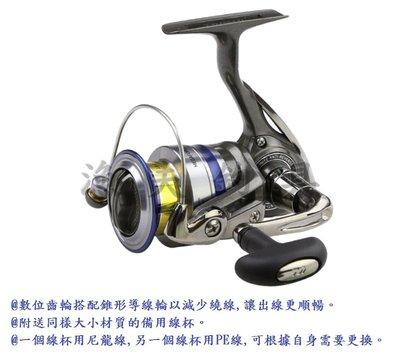 【漁夫釣具】 DAIWA MEGAFORCE 2000/2500/3000型 雙線杯捲線器 路亞 磯釣 水庫 釣魚 筏釣