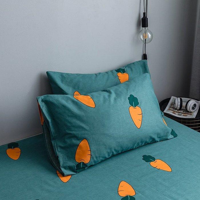 西柚姑娘雜貨鋪☛熱賣中#網紅北歐床上豹紋全棉斜紋枕套 枕芯套純棉枕頭套48*74枕套一對裝