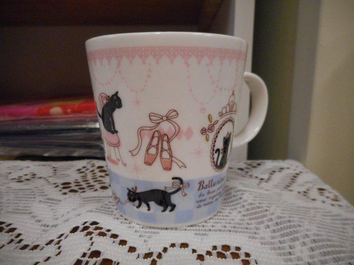 ~~凡爾賽生活精品~~全新日本進口時尚黑貓造型陶瓷馬克杯~日本製