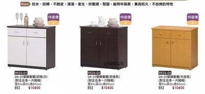 頂上{全新}22塑鋼餐櫃(R520-01)收納櫃/餐櫃~~有多色