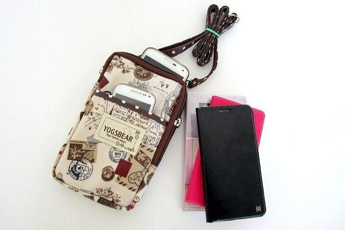 【YOGSBEAR】特價出清 台灣製造 D 防水 直立式 可置6吋手機 手機袋 斜背包 悠遊卡包 護照包 YG16