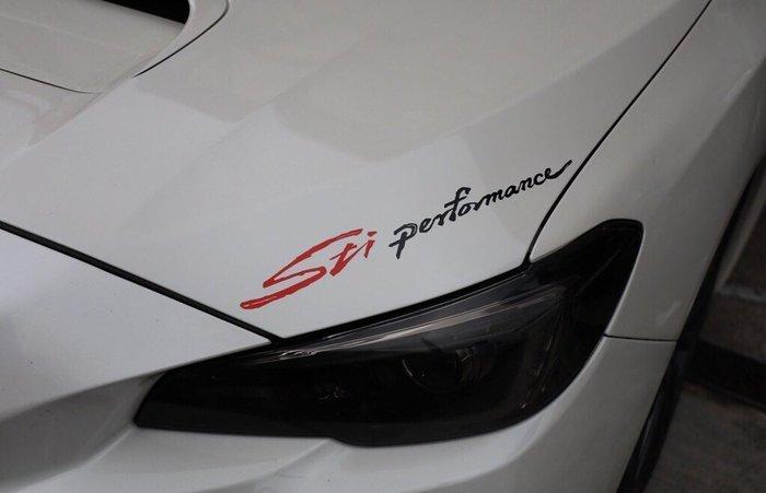 SUBARU速霸陸全車系【書法版STI performance燈眉貼】長39公分 引擎蓋大燈貼膜 車頭貼紙 後擋玻璃造型