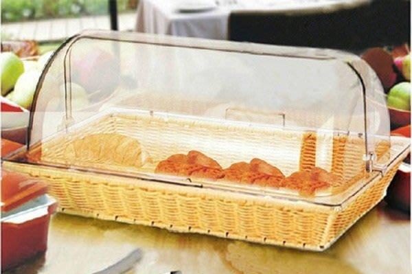 【奇滿來】野餐田園風格 自助餐麵包籃 方形食品蓋 可分隔間隔板 食品透明罩 防塵點心罩 飯店早餐 大號深籃H8 ADCB