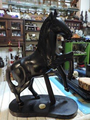 天然實木馬木雕 12肖黑馬雕刻 一馬當先 馬上有錢 馬到成功 昂頭馬蓄勢待發 黑檀木