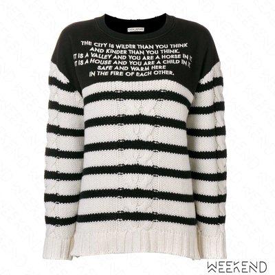 【WEEKEND】 EACH X OTHER 異材質 拼接 針織 長袖 上衣 黑色 白色 18秋冬