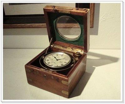 美國1918年,8日(稀有)天文船鐘,鐘錶,古董.
