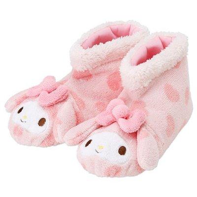 [Child's shop]《Sanrio》美樂蒂粉愛心保暖室內拖鞋_425745