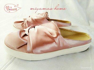 Something Borrowed粉紅緞面扭轉平底鞋40號(SW0107)